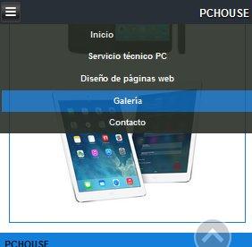 menu responsive