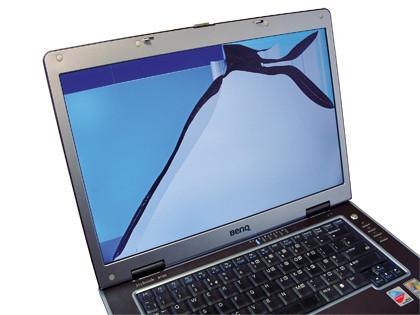 portatil con pantalla lcd rota